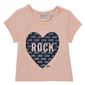 Oblečenie Dievčatá Tričká s krátkym rukávom Ikks XS10120-31 Ružová