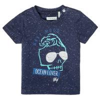 Oblečenie Chlapci Tričká s krátkym rukávom Ikks XS10011-48 Námornícka modrá