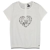 Oblečenie Dievčatá Tričká s krátkym rukávom Ikks XS10242-19-J Biela