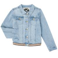 Oblečenie Dievčatá Džínsové bundy Ikks XS40152-84-C Modrá