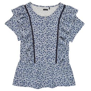 Oblečenie Dievčatá Blúzky Ikks XS12052-48-J Modrá