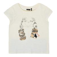 Oblečenie Dievčatá Tričká s krátkym rukávom Ikks XS10002-11-C Biela