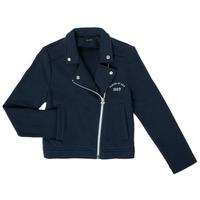 Oblečenie Dievčatá Cardigany Ikks XS17072-48-C Námornícka modrá