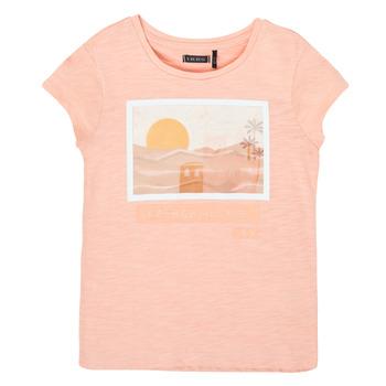 Oblečenie Dievčatá Tričká s krátkym rukávom Ikks XS10332-32-C Ružová