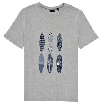 Oblečenie Chlapci Tričká s krátkym rukávom Ikks XS10363-24-C Šedá