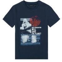 Oblečenie Chlapci Tričká s krátkym rukávom Ikks XS10013-48-C Námornícka modrá