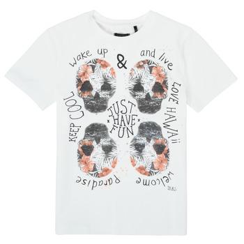 Oblečenie Chlapci Tričká s krátkym rukávom Ikks XS10513-19-J Biela