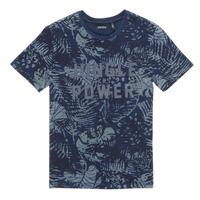 Oblečenie Chlapci Tričká s krátkym rukávom Ikks XS10153-46-J Námornícka modrá