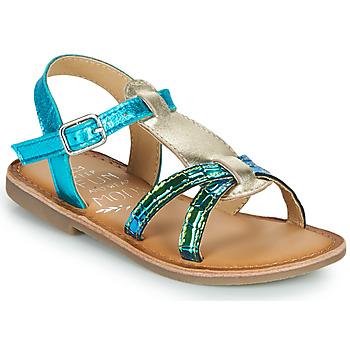 Topánky Dievčatá Sandále Mod'8 CALICOT Tyrkysová / Zlatá
