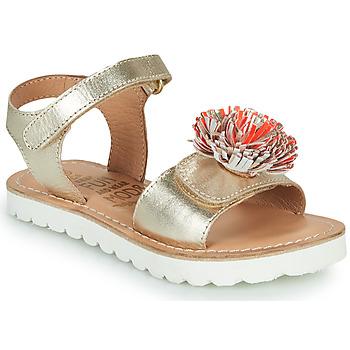 Topánky Dievčatá Sandále Mod'8 JELLINE Zlatá / Koralová