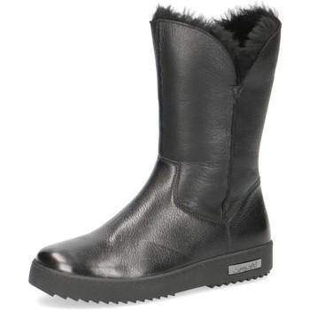 Topánky Ženy Čižmičky Caprice Booties Flats Black Black