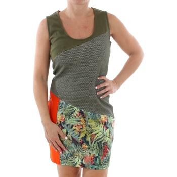Oblečenie Ženy Krátke šaty Smash CADIZ DRESS ARMY 38 Verde