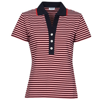 Oblečenie Ženy Polokošele s krátkym rukávom Liu Jo WA1142-J6183-T9701 Námornícka modrá / Biela / Červená