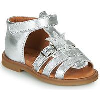 Topánky Dievčatá Sandále GBB CARETTE Strieborná