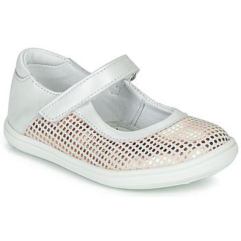 Topánky Dievčatá Balerínky a babies GBB PLACIDA Biela