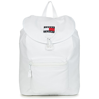 Tašky Ruksaky a batohy Tommy Jeans TJM HERITAGE FLAP BACKPACK CAN Biela