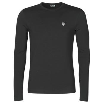 Oblečenie Muži Tričká s dlhým rukávom Emporio Armani EA7 TRAIN CORE SHIELD Čierna