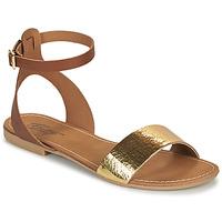 Topánky Ženy Sandále Betty London GIMY Ťavia hnedá / Zlatá
