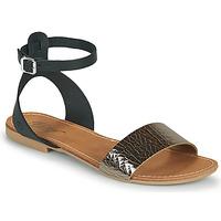 Topánky Ženy Sandále Betty London GIMY Čierna / Oceľová