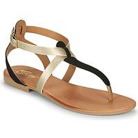 Topánky Ženy Sandále Betty London OVERNE Čierna / Zlatá