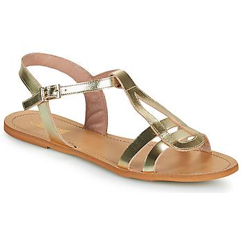 Topánky Ženy Sandále So Size DURAN Zlatá
