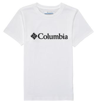 Oblečenie Chlapci Tričká s krátkym rukávom Columbia CSC BASIC LOGO YOUTH Biela