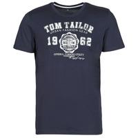 Oblečenie Muži Tričká s krátkym rukávom Tom Tailor  Námornícka modrá