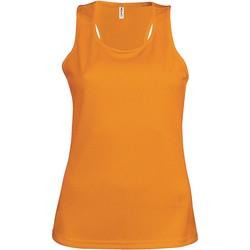Oblečenie Ženy Tielka a tričká bez rukávov Proact Débardeur femme  Sport orange