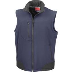 Oblečenie Cardigany Result Doudoune Sans Manche  Softshell bleu marine