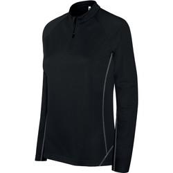 Oblečenie Ženy Vrchné bundy Proact Sweat femme  Running 1/4 Zip noir