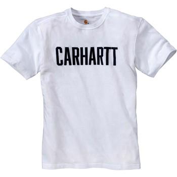 Oblečenie Tričká s krátkym rukávom Carhartt T-shirt  Block blanc