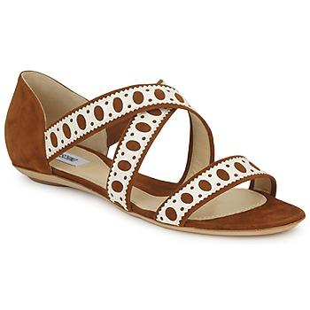 Topánky Ženy Sandále Moschino DELOS SAND ťavia hnedá / Slonia kosť