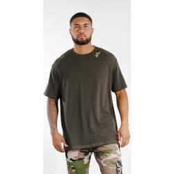 Oblečenie Muži Tričká s krátkym rukávom Sixth June T-shirt  logo épaule kaki