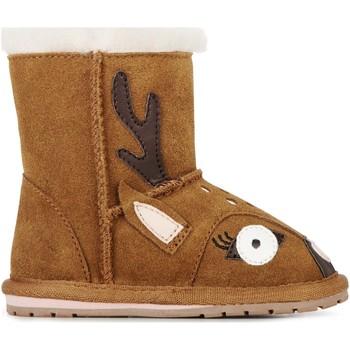Topánky Deti Snehule  EMU Deer Walker Chestnut