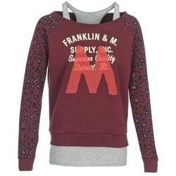 Oblečenie Ženy Mikiny Franklin & Marshall MANTECO Bordová / šedá