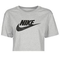 Oblečenie Ženy Tričká s krátkym rukávom Nike NSTEE ESSNTL CRP ICN FTR Šedá / Čierna