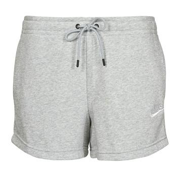 Oblečenie Ženy Šortky a bermudy Nike NSESSNTL FLC HR SHORT FT Šedá / Biela