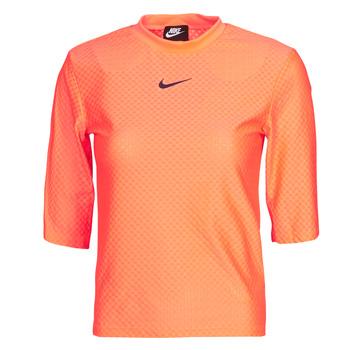 Oblečenie Ženy Tričká s krátkym rukávom Nike NSICN CLSH TOP SS MESH Oranžová