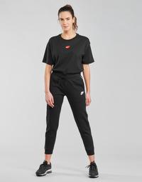 Oblečenie Ženy Tepláky a vrchné oblečenie Nike NSMLNESSNTL FLC MR JGGR Čierna / Biela