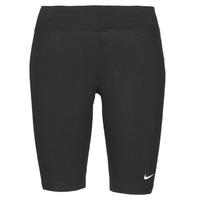 Oblečenie Ženy Legíny Nike NSESSNTL MR BIKER SHORT Čierna / Biela