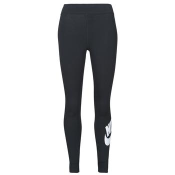 Oblečenie Ženy Legíny Nike NSESSNTL GX HR LGGNG FTRA Čierna / Biela