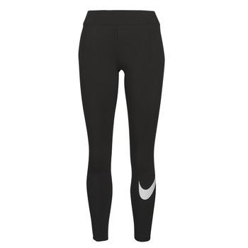 Oblečenie Ženy Legíny Nike NSESSNTL GX MR LGGNG SWSH Čierna / Biela