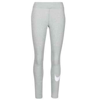 Oblečenie Ženy Legíny Nike NSESSNTL GX MR LGGNG SWSH Šedá / Biela