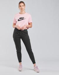 Oblečenie Ženy Tepláky a vrchné oblečenie Nike NSAIR PANT FLC MR Čierna / Biela