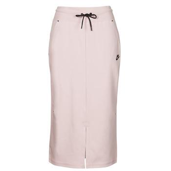 Oblečenie Ženy Sukňa Nike NSTCH FLC SKIRT Béžová / Čierna