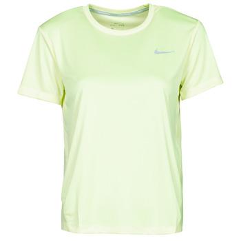 Oblečenie Ženy Tričká s krátkym rukávom Nike MILER TOP SS Zelená / Šedá
