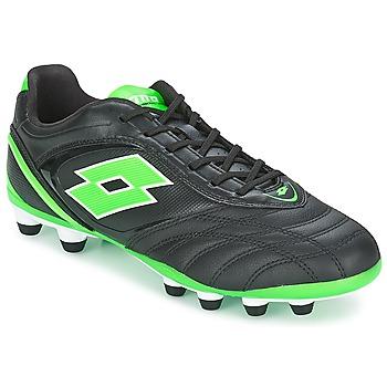 Topánky Muži Futbalové kopačky Lotto STADIO P VI 300 FG čierna / Zelená