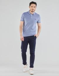 Oblečenie Muži Nohavice Chinos a Carrot Selected SLHSLIM-MILES FLEX Námornícka modrá