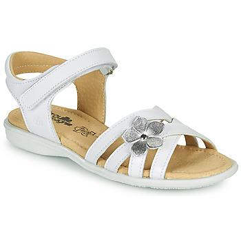 Topánky Dievčatá Sandále Citrouille et Compagnie HERTUNE Biela