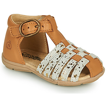 Topánky Dievčatá Sandále Citrouille et Compagnie RINE Ťavia hnedá / Zlatá
